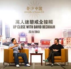 David Beckham skriver kontrakt med Macau kasino