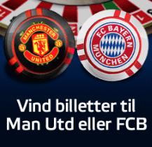 Vind fodboldbilletter til Bayern München og  Manchester United