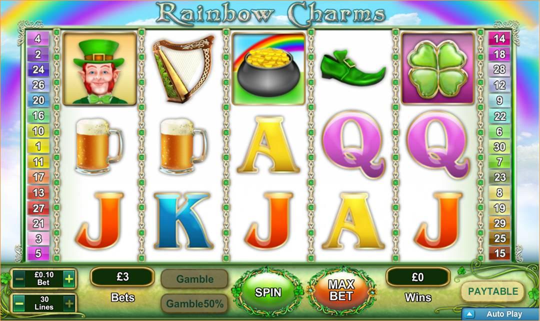 Rainbow Charms - Et helt nyt 30 linjer slotspil