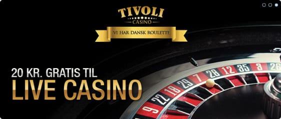 20 kr gratis til Tivoli Live Casino