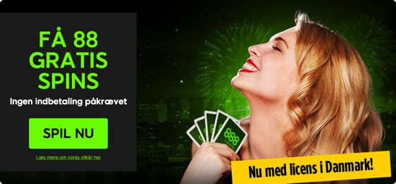 Start med 88 free spins og en bonus