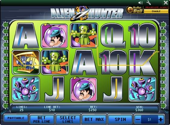 Alien Hunter spillemaskine