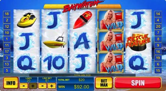 Baywatch spillemaskine