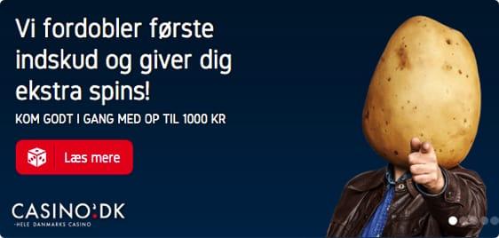 Som ny kunde får du 25 free spins, 100 kr gratis og 1.000 kr. i bonus