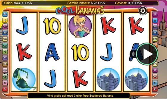 Cool Bananas spillemaskinen giver dig chancen for at vinde 40 free spins