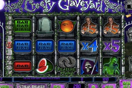 Creepy Graveyard spillemaskine fra spillehallen.dk