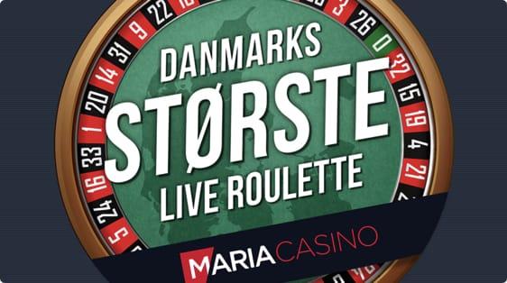 Danmarks største live roulette