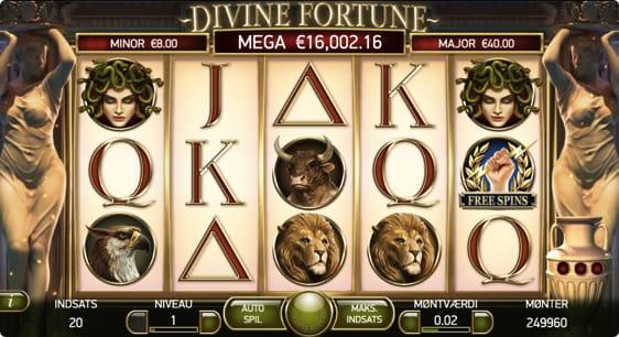 Divine Fortune Mega Jackpot vinder hos Royal