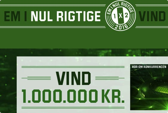 Spil på EM-slutrunden i Frankrig og vind 1 million kr.