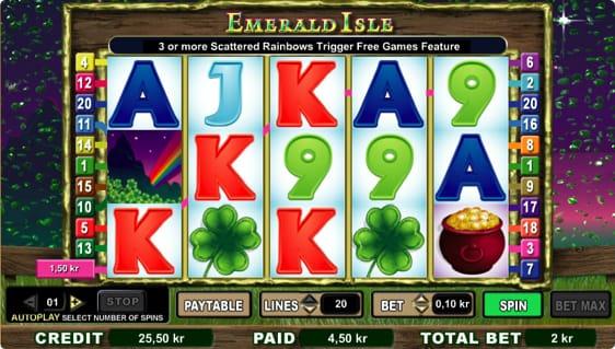 Esmerald Isle spillemaskine