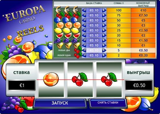 Europa Casino Reels