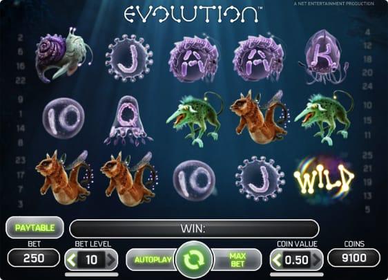 Evolution Spillemaskine