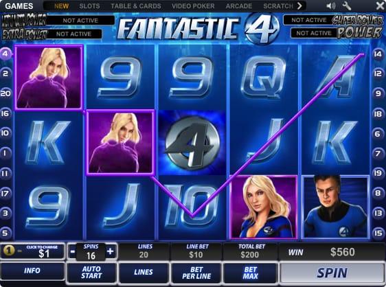 Fantastic 4 slot - spil Playtechs Fantastic Four spilleautomater