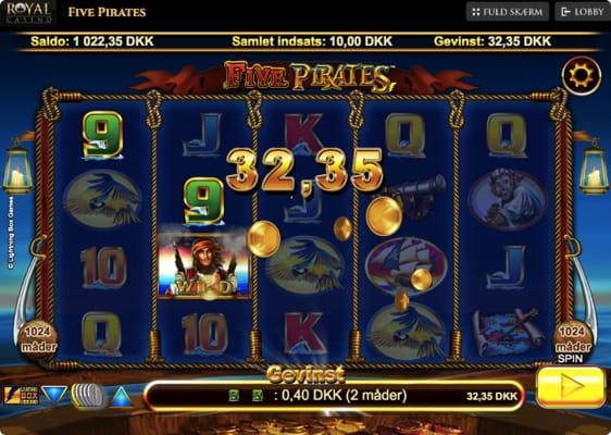 Five Pirates spillemaskine