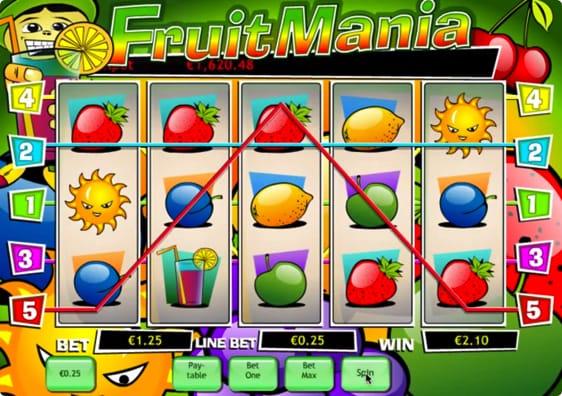 Fruit Mania spillemaskine