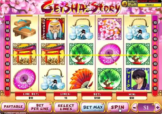 Geisha Story spillemaskine