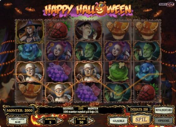 Prøv Happy Halloween Spillemaskinen med en bonus på 3.000 kr.