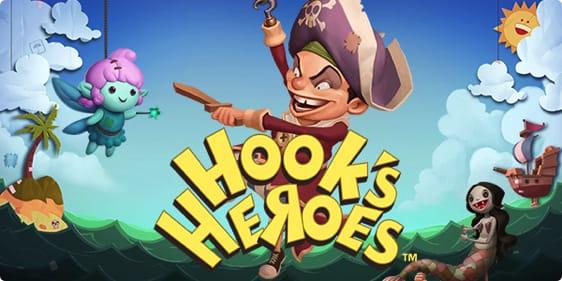 Hooks Heroes Spillemaskine fra NetEnt - Spil med 1000 kr bonus