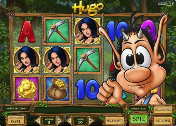 Hugo spillemaskine med free spins. Læs som Hugo spilleautomaten her