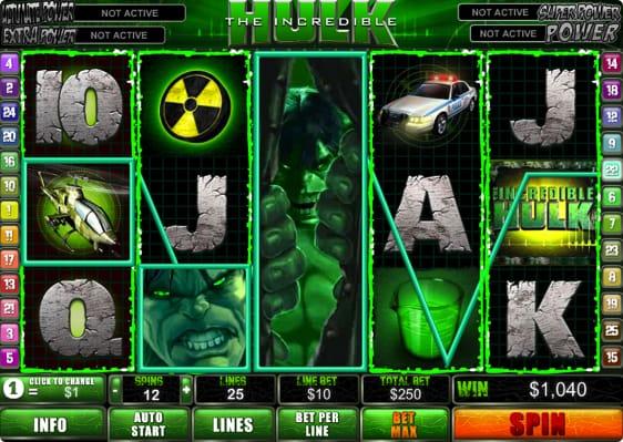 Incredible Hulk Spillemaskine