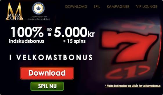 Mega Bonus og 15 free spins
