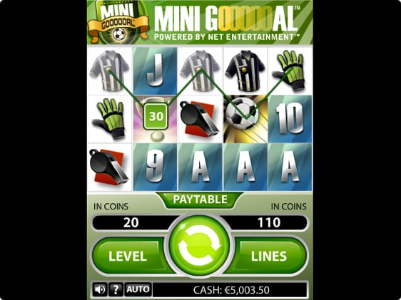 Mini Goooooal spillemaskine