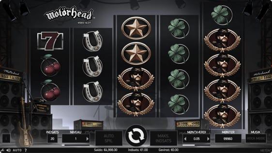 Motörhead spillemaskine fra NetEnt
