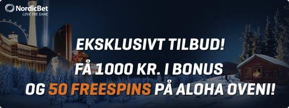 Nordicbet bonuskode – 50 free spins på ALOHA