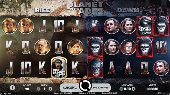 Planet of the Apes spillemaskine