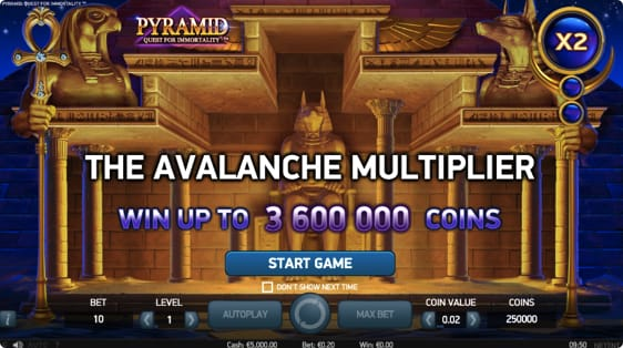 Pyramid: Quest For Immortality Spillemaskine