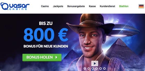 QuasarGaming bietet zu 800 € Neukundenbonus