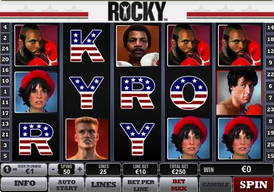 Rocky spillemaskinen fra Playtech