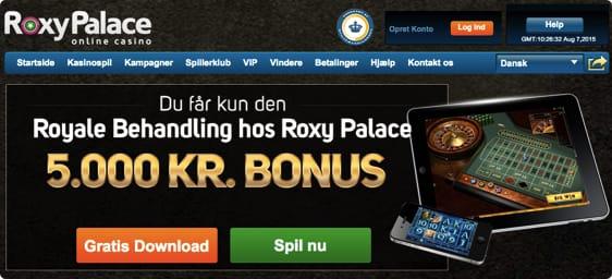 Start med en bonus på 5.000 kr. Bonuskode ikke nødvendig!