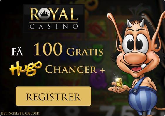 Spil hos Royal Casino Aarhus med 50 gratis chancer