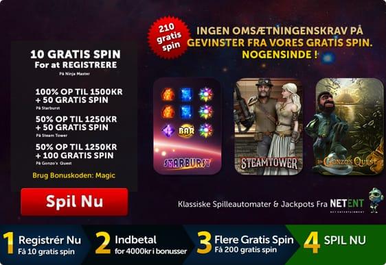 Slotsmagic Bonuskode - Få 10 free spins