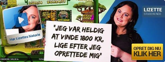 Spilnu.dk reklame med heldig vinder