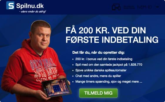 Hos Spilnu.dk kan du få en bonus på din første indbetaling med vores bonuskode. Set på TV!