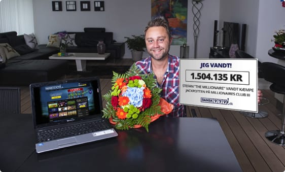 Stefan vandt en million jackpot
