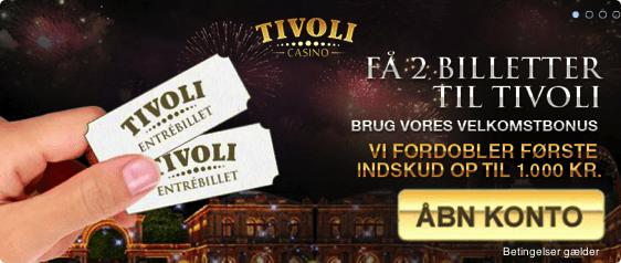 Sommer kampagne 2016: Få 2 billetter til Tivoli haven i København