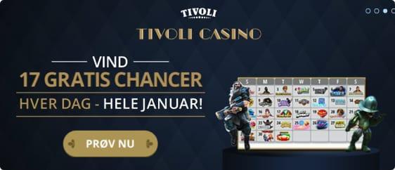 Gratis chancer hos Tivoli Casino i Januar 2017
