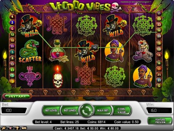 Voodoo Vibes spillemaskine