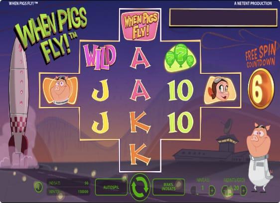 When Pigs Fly Spillemaskine fra NetEnt