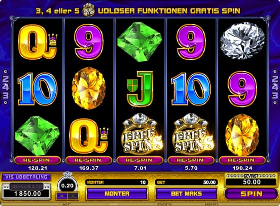 Diamant automat fra Microgaming