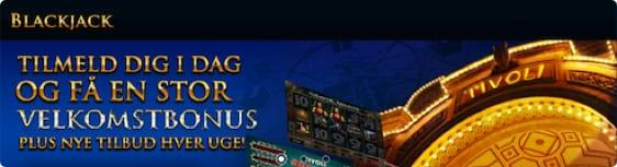 Spil blackjack hos TivoliCasino