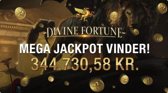 Dansker vandt jackpot på Divine Fortune automaten i September 2017